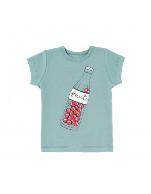 T-shirt bleu fruits