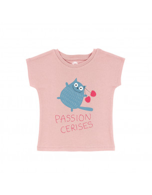 T-shirt rose passion cerises