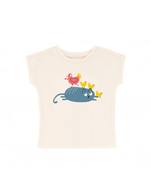 T-shirt chat poule La Queue du Chat