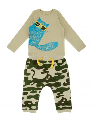 The Cardigan La Queue du Chat clothes children baby organic cotton