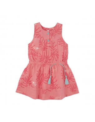 Robe fille rose corail
