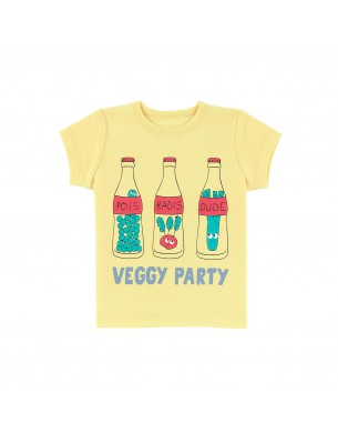 T-shirt jaune veggy party