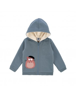 Grey Melange Sweatshirt La Queue du Chat clothes children baby organic cotton