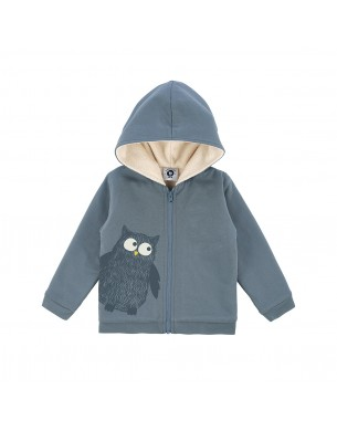 Sweatshirt gris chiné La Queue du Chat vêtement enfant bébé coton bio