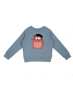 Short gris chiné La Queue du Chat vêtement enfant bébé coton bio