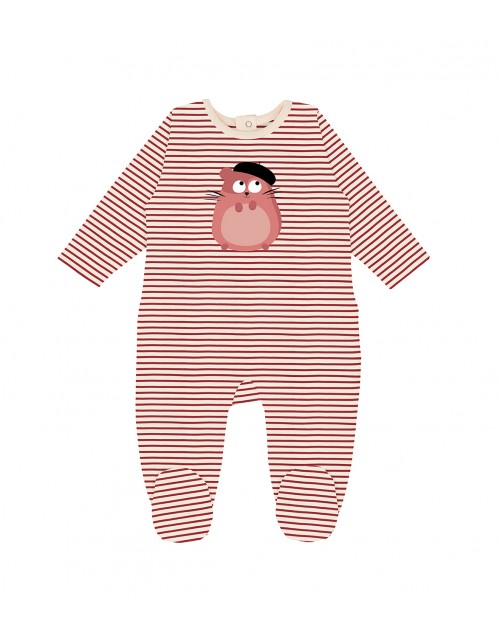 Baby hamster all-in-one La Queue du Chat clothes children baby organic cotton